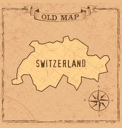 old style switzerland map in vintage vector image