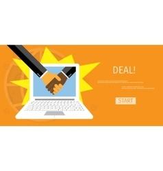 Online deal vector image