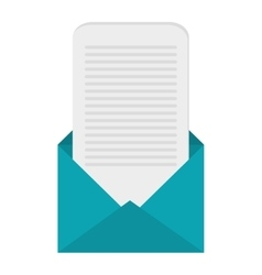 open envelope with message coming out icon vector image