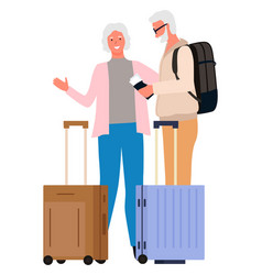 people traveling together grandmother grandfather vector image