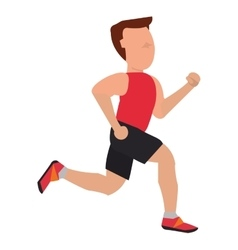 person with sleeveless top jogging vector image