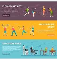 Physical Activity Banners vector