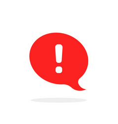 Red speech bubble like attention icon vector