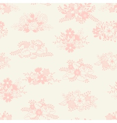 Romantic seamless pattern of floral bouquets in vector