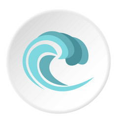 round wave icon circle vector image
