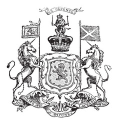 royal arms of scotland vintage vector image