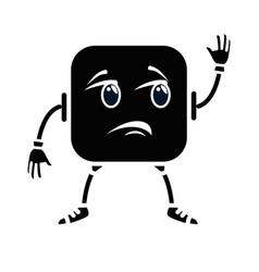 sad face emoji character vector image