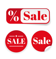 sale sticker set label vector image