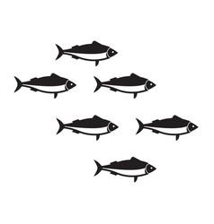 Sardines school vector