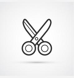 scissors flat line cut icon eps10 vector image
