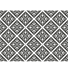 Seamless geometrical gothic floral pattern vector image