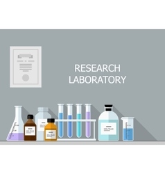set - chemical designer Flat design vector image