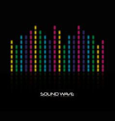 sound wave design vector image