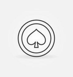spades card suit concept icon in thin line vector image