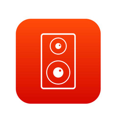 Subwoofer icon digital red vector
