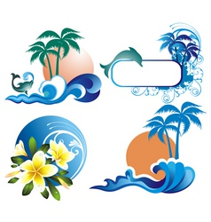 summer ddesign elements vector image