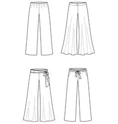 Summer pants vector