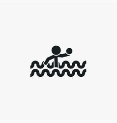 swimmer icon simple sportsman element swimming vector image
