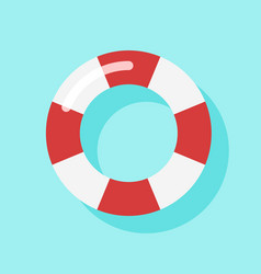 Top view of swim tube on water for summer icon vector