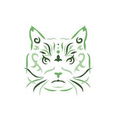 Tribal cat vector