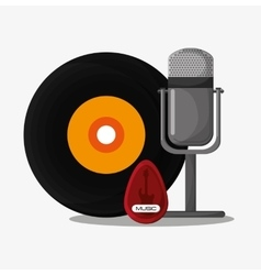 Vinyl and microphone design vector