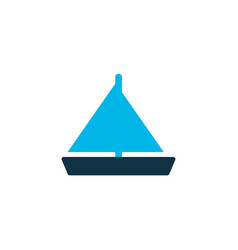 yacht icon colored symbol premium quality vector image