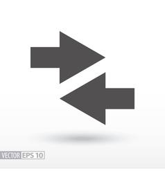 Arrow - flat icon vector image vector image