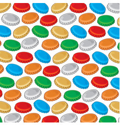 background pattern with bottle cap vector image