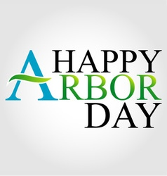 Celebrating Arbor Day vector image vector image