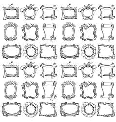 Doodle frames Seamless pattern vector image vector image