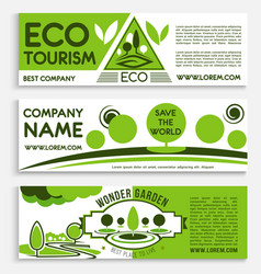 eco travel and tourism banner template design vector image vector image