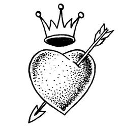 Heart Old School vector image vector image