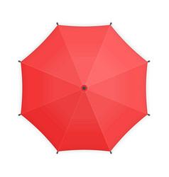 red umbrella top view vector image
