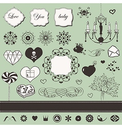 Valentines elements vector image vector image
