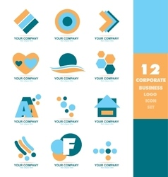 Corporate business logo icon set vector image
