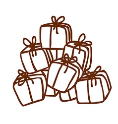 Hand Drawn Present Stack vector image
