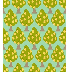 Pear tree seamless pattern Orchard background vector image