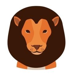 cartoon lion icon vector image