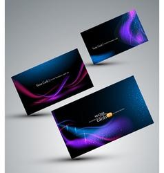 futuristic set of cards vector image