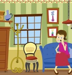 room scene vector image