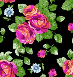 Bright Pink classic roses vector image