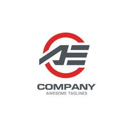 letter ae modern sport logo letter a logo vector image vector image