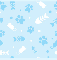pattern for pets kitty vector image