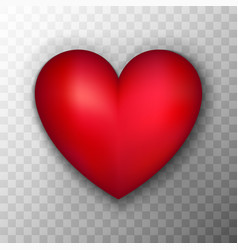 red heart transparent background vector image vector image