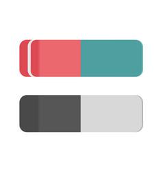 school rubber icon eraser office tool vector image vector image