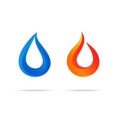water swirl fire flame gradient logo couple vector image