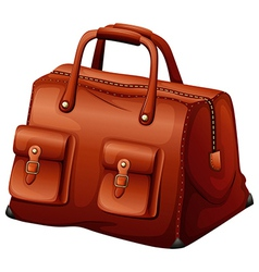 A maroon leather bag vector image