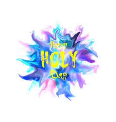 abstract colorful happy holi vector image
