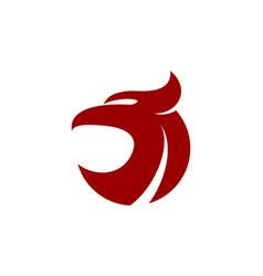 abstract eagle icon logo concept design vector image