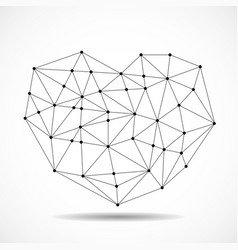 abstract geometric heart of lines and dot vector image
